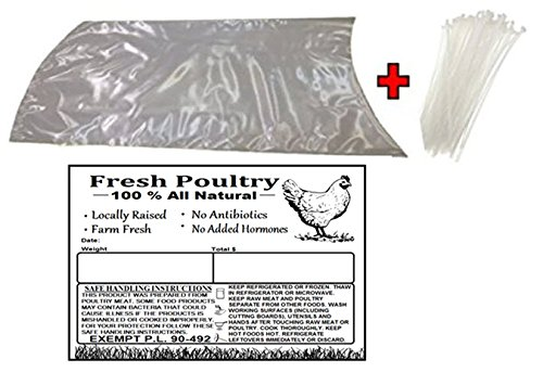 Poultry Shrink Clear Bags(L)- 10