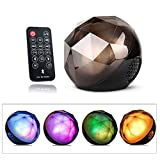 AENMIL Color Changing Wireless Bluetooth Speaker, Fashion LED Ball Stereo Bass Speaker with Remote Controller for Tablet iPad iPhone Samsung Laptop and Other Music Players(Style 1 Black)