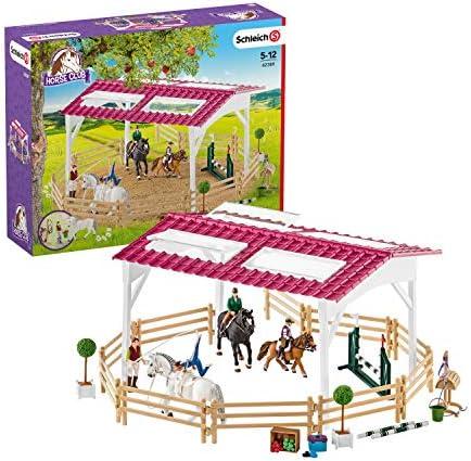 Schleich-42389 Escuela de equitación con amazonas, caballos y ...