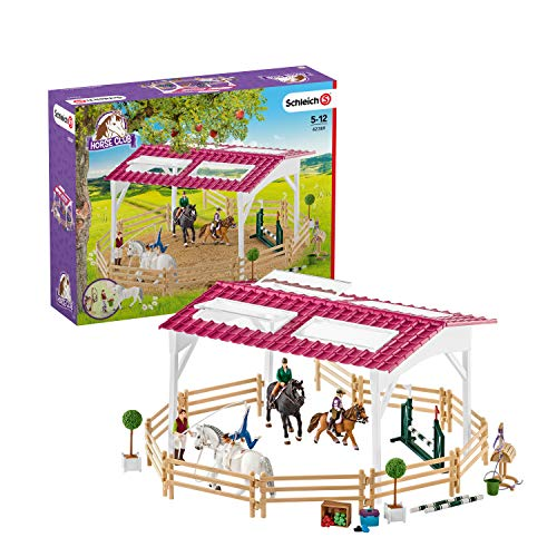 Schleich Horse Club Riding School with Riders & Horses Toy Figure (Schleich North America Horse Club Riding Center)