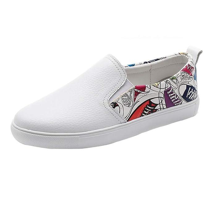 Zapatos de Mujer, ASHOP Casual Planos Loafers Graffiti Flats Leisure Cómodo Mocasines de Puntera otoño Invierno Botas de para Mujer: Amazon.es: Ropa y ...