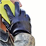 iGT CLASS Men's Touch Screen Winter Texting Leather Gloves Black Medium