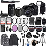 Cheap Canon EOS 80D DSLR Camera with EF-S 18-55mm f/3.5-5.6 is STM Lens + EF-S 55-250mm f/4-5.6 is STM Lens + 2Pcs 32GB Sandisk SD Memory + Universal Flash + Battery Grip + Filter & Macro Kits + More