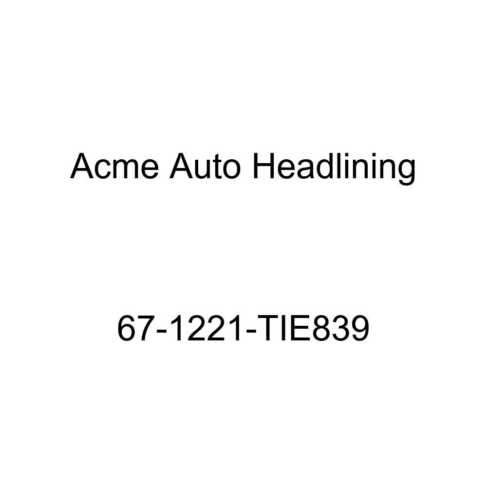 Oldsmobile Cutlass /& F85 2 Dr Coupe /& Hardtop 5 Bow Acme Auto Headlining 67-1221-TIE839 Metallic Blue Replacement Headliner