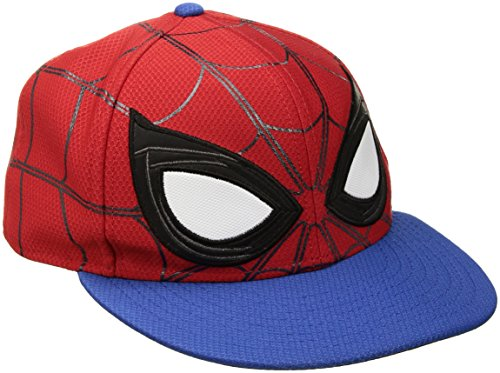 New Era Cap Men's Spiderman Homecoming Allover 59fifty Fitted Cap, Red, 7 5/8