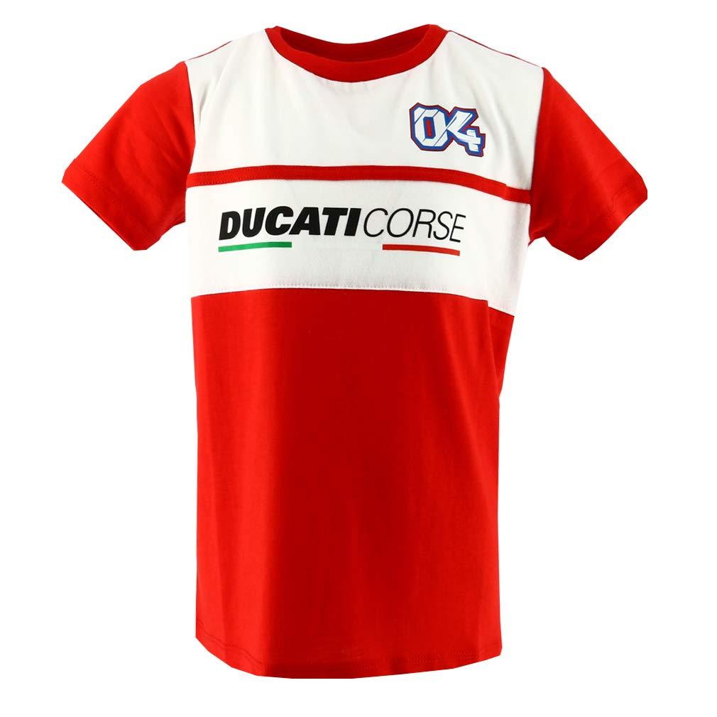 Ducati Corse Andrea Dovizioso 04 Moto GP Panel Niñ os Camiseta Oficial 2018