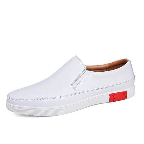 2018 Nuevos Pequeños Zapatos Blancos Para Hombre Zapatos Casuales de Cuero Ejercicio Al Aire Libre Zapatillas