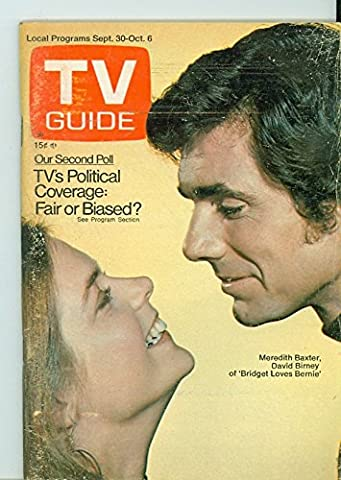 1972 TV Guide Sep 30 Bridget Loves Bernie - New Mexico Edition NO MAILING LABEL Very Good (3 out of 10) Well Used by Mickeys (Bridget Loves Bernie)
