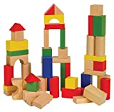 Ryans Room Small World Toys Wooden Toys -Bag O' Blocks, Natural Color