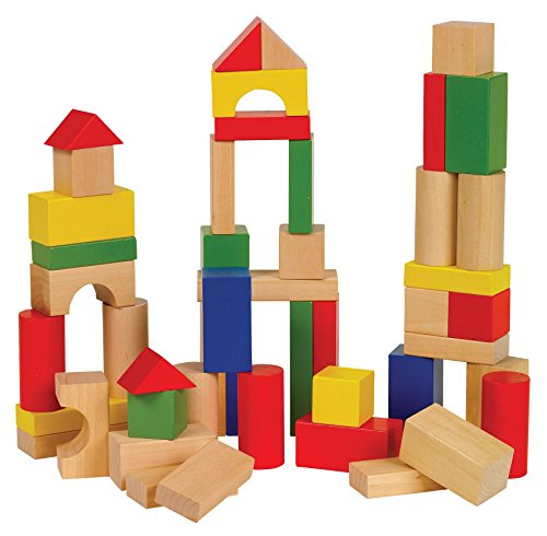 Ryans Room Small World Toys Wooden Toys -Bag O' Blocks, Natural Color (Ryans Wood Room)