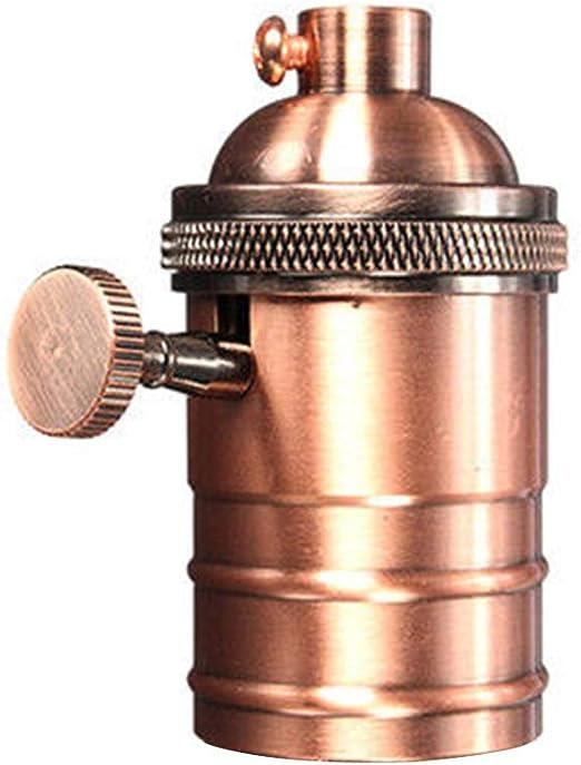 para bombillas E27 2/portabombillas de lat/ón estilo vintage con interruptor de encendido