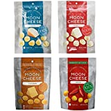 Moon Cheese, Pack of Four, Assortment (Cheddar, Gouda, Pepperjack, Sriracha), 100% Cheese and Gluten Free, 2 OZ Bags