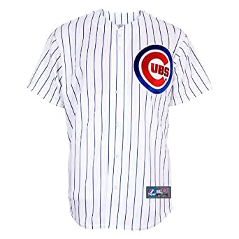 MLB Men's Chicago Cubs Marlon Byrd White/Royal Pinstrp Home Short Sleeve 6 Button Synthetic Replica Baseball Jersey Spring 2012  (White/Royal Pinstrp, XX-Large)