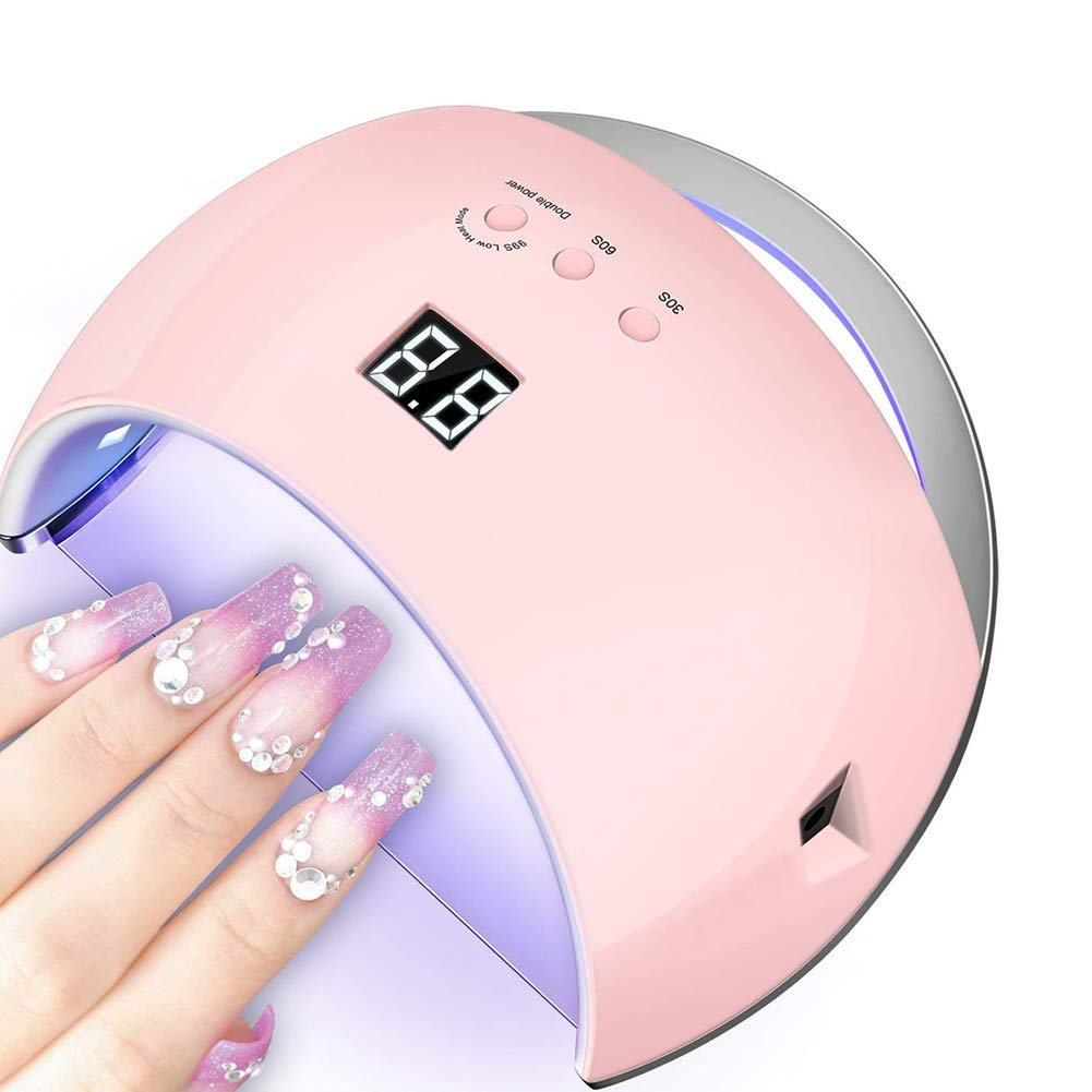 LED UV Nail Lamp 48W Nail Dryer with 3 Timer Setting, Automatic Infrared Sensor Lamp, Fast Curing UV Gel Polish Fingernails and Toenails (Style 9) ASANDH