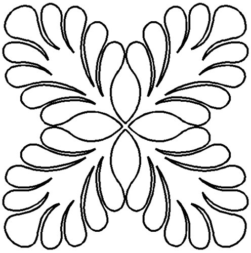 """Quilting Creations Feather Block Quilt Stencil, 11"""""""