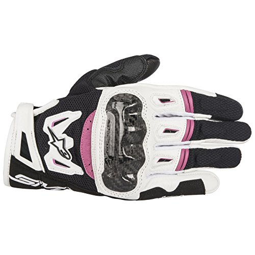 Alpinestars SMX-2 AC V2 Carbon Air Black/White/Pink SM Women's Summer Glove