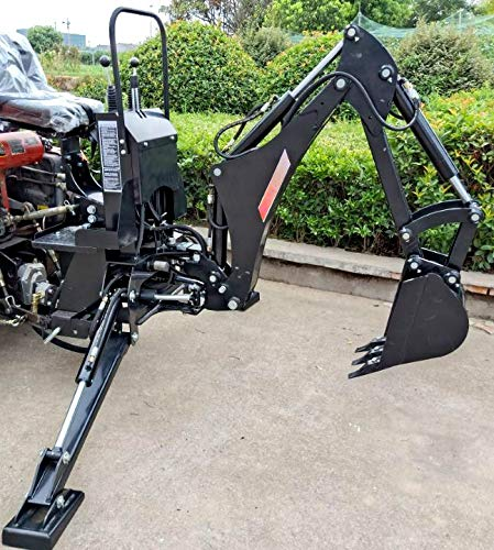 3 Point Hitch PTO BHM5600 Hydraulic Farm Tractor Backhoe Attachment Excavator with 10' Bucket and Tank, Category 1 MCP-Distributions