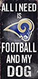 Fan Creations Los Angeles Rams Football and My Dog Sign, Multicolored