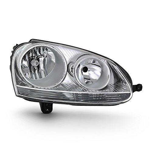 (For 06-09 VW GTI Rabbit Jetta R32 MK5 Chrome Factory Style Headlight Lamps (Passenger Right Side Only))