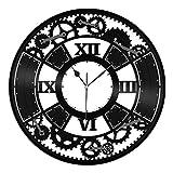 VinylShopUS - Steampunk Vinyl Wall Clock City Skyline Souvenir Personalized Room Gift   Unique Gift for Men Women   Home Office