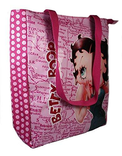 Betty Shopper Bag (Betty Boop Map Shopper Shoulder Bag in Pink)