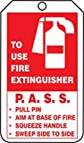 "Accuform Signs TRM101CTP PF-Cardstock Mini Tag, Legend ""FIRE EXTINGUISHER INSPECTION RECORD"", 4-1/4"" Length x 2-1/8"" Width x 0.010"" Thickness, Red/Black on White (Pack of 25)"