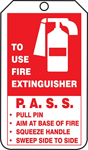 Accuform Signs TRM101CTP PF-Cardstock Mini Tag, Legend FIRE EXTINGUISHER INSPECTION RECORD, 4-1/4