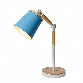 CN Lámpara de Mesa LED Arte de Madera Estudio de Hierro ...