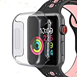 Wistore Compatible with Apple Watch 4 Case 40mm, Apple Watch Series 4 Screen Protector, 2018 iWatch Overall Protective Case TPU HD Clear Ultra-Thin Cover for Apple Watch Series 4 (40mm)