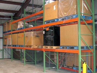 Teardrop-Pallet-Rack-Teardrop-STARTER-42-D-x-120-H-x-108-W-2-uprights-4-beams-4-wire-decks