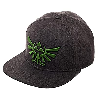 Embroidered Nintendo Zelda Logo Fitted Flatbill Flex Cap - Baseball Cap/Snapback from Bioworld
