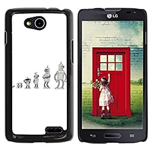 For LG OPTIMUS L90 / D415 Case , Future Cartoon Bend Metal Shiny - Diseño Patrón Teléfono Caso Cubierta Case Bumper Duro Protección Case Cover Funda