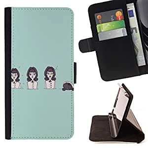 King Case - FOR Sony Xperia Z1 Compact D5503 - Life is like a play - Prima caja de la PU billetera de cuero con ranuras para tarjetas, efectivo Compartimiento desmontable y correa para la mu?eca