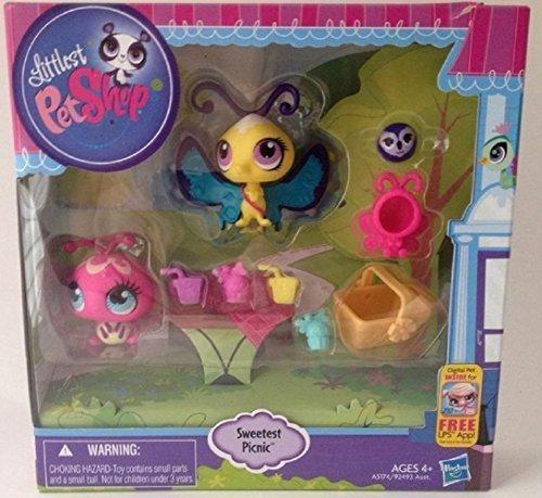 (Littlest Pet Shop Sweetest Picnic Ladybug #3287& Butterfly #3286 with Koala 3288)