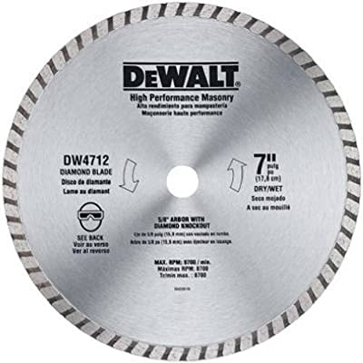 DEWALT DW4712B 7-Inch High Performance Diamond Masonry Blade by DEWALT