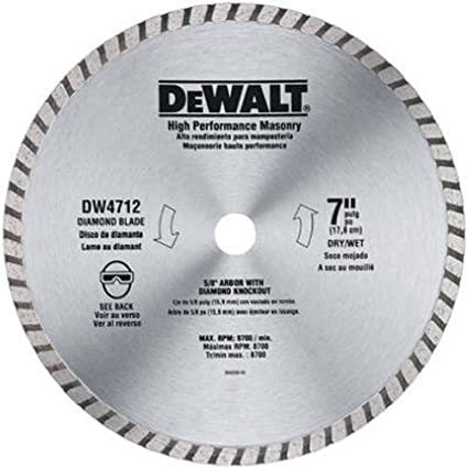 Dewalt dw4712b 7 inch high performance diamond masonry blade dewalt dw4712b 7 inch high performance diamond masonry blade greentooth Gallery