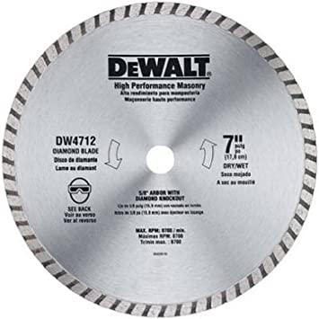 Dewalt dw4712b 7 inch high performance diamond masonry blade dewalt dw4712b 7 inch high performance diamond masonry blade masonry blade for circular saw amazon greentooth Gallery