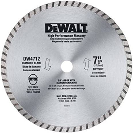 Dewalt dw4712b 7 inch high performance diamond masonry blade dewalt dw4712b 7 inch high performance diamond masonry blade greentooth Image collections