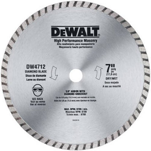 DEWALT DW4712B 7-Inch High Performance Diamond Masonry Blade (Concrete Blade)