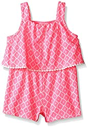 Crazy 8 Baby Girls' Babyprinted Pom Knit Romper, Pink Gloss, 6-12