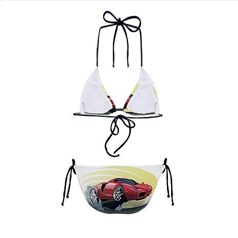 Amazon.com: Bikini 2 Pieces,Speeding Jumping Smoke Coming Out Giant Women,Multielement Design: Clothing