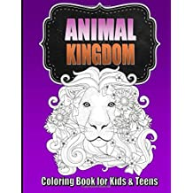 Animal Coloring Book for Older Kids & Teens ~ Perfect for Boys & Girls: Unique Teen Coloring Book with Zentangle & Mandala Animal Patterns for Hours of Relaxation for Kids