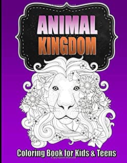 animal coloring book for older kids teens perfect for boys girls unique