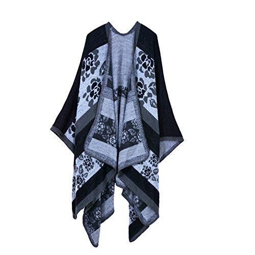 Long Okeh Hiver Cape 7 Femmes Wrap Poncho Manteau Shawl Châle Chaud Cardigan Surdimensionnés Couverture PrPq5