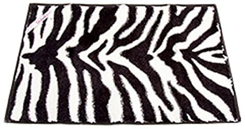 Darice Locker Lookz Locker Fur Rug, Black and White Zebra (Girls Black Rug)