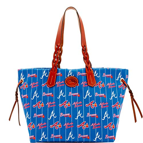 Dooney Bourke Bag Hobo And - Dooney & Bourke Atlanta Braves Shopper Handbag Tote Navy