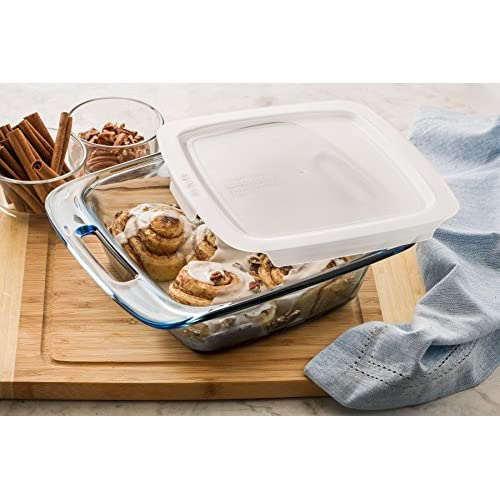 Pyrex Atlantic 4 Piece Value Pack Bakeware Set, Blue/Clear