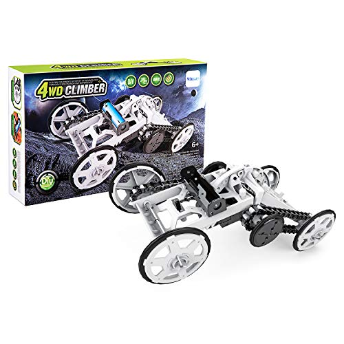 (Nrbecurn STEM Projects for Kids, 4WD DIY Car Assembly Kit Real Motors Climbing Vehicle for Boys and Teens, Science Experiments, Circuit Building Toys for Teens)