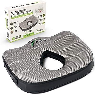 Donut Luxury Seat Cushion Memory Foam Pillow for Hemorrhoids, Prostate, Pregnancy, Pressure Sores