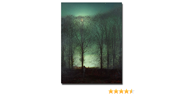 Amazon Com Figure In The Moonlight By John Atkinson Grimshaw 18x24 Inch Canvas Wall Art Prints Posters Prints